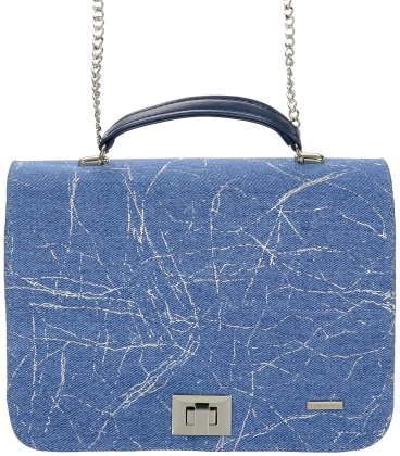 Bedomodrá denim crossbody kabelka C18SM063 - GROSSO
