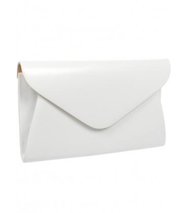 Biela listová kabelka S18SM004WHT - GROSSO