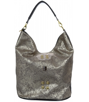 Čierno- zlatá vybíjaná kabelka cez rameno S595 - Grosso