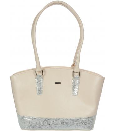 Pudrovo-strieborná elegantná kabelka V18SM066PNK - GROSSO