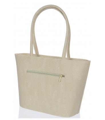 Béžová elegantná kabelka V18SM063BEI - GROSSO