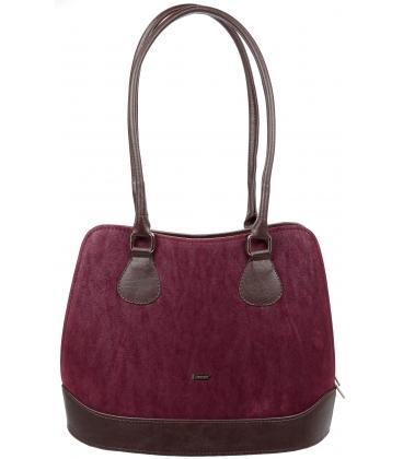 Bordovo-hnedá elegantná kabelka V18SM071BRW - GROSSO