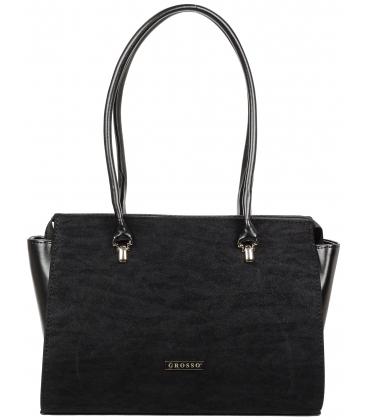 Čierna elegantná kabelka V18SZ072BLC - GROSSO