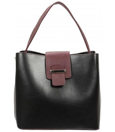 Čierno-bordová kabelka V18SM065BLC - GROSSO