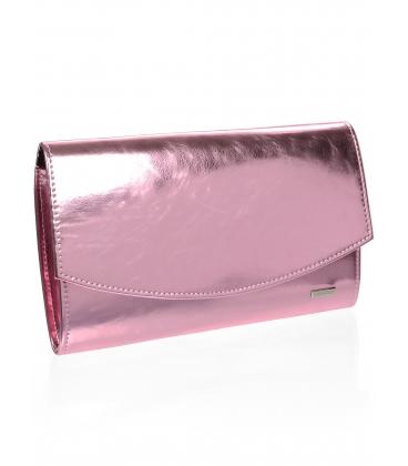 Ružová listová kabelka S18SM001PNK - GROSSO