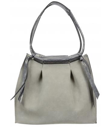 Sivá kabelka so strapcami V18SM078GRY - GROSSO