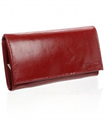Dámska kožená bordová peňaženka ZD-02-064 BORDO
