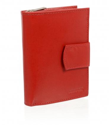 Dámska kožená červená peňaženka AD-10-217 RED