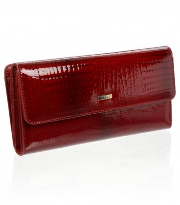 Női piros bőr pénztárca CD-64-274 D RED