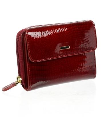 Női piros bőr pénztárca CD-64-277 RED