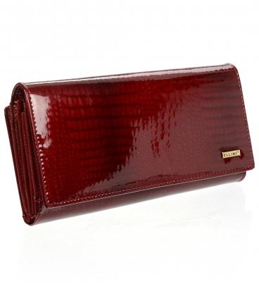 Női piros bőr pénztárca CDF-64-276 RED
