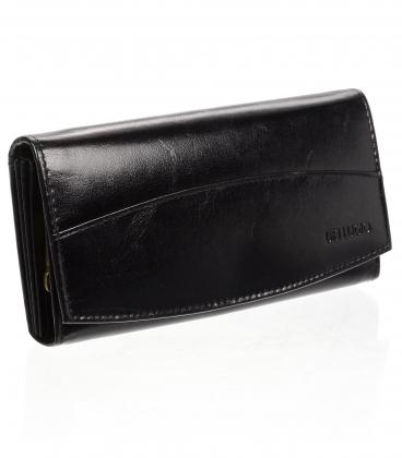 Dámská kožená černá peněženka AD-21-042M BLACK