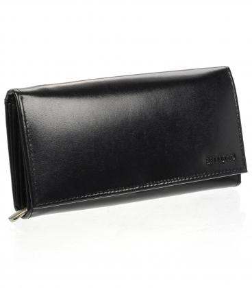 Dámská kožená černá peněženka AD-21-210 BLACK