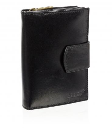 Női bőr fekete pénztárca AME-21R-115A BLACK