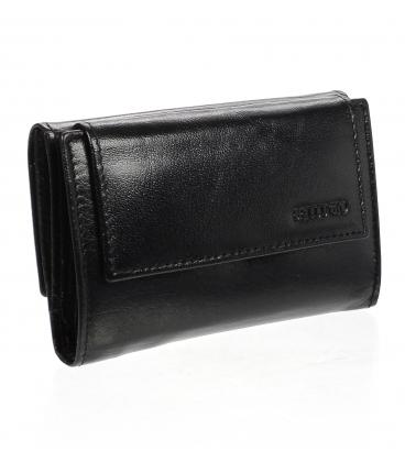 Dámska kožená čierna peňaženka ZD-02-238 BLACK