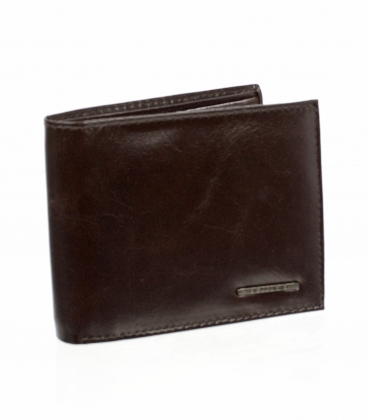 Pánská čokoládově hnědá kožená peněženka AM-21-033 CHOCO BROWN