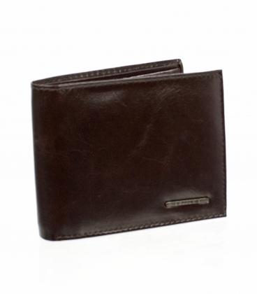 Pánska čokoládovo hnedá kožená peňaženka AM-21-033 CHOCO BROWN
