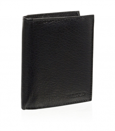 Pánská kožená černá peněženka AM-01-034 BLACK