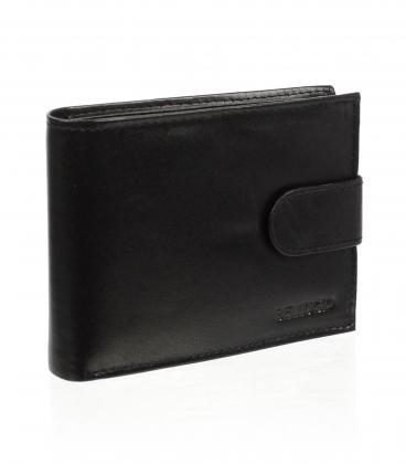 Pánská kožená černá peněženka AM-10-032 BLACK