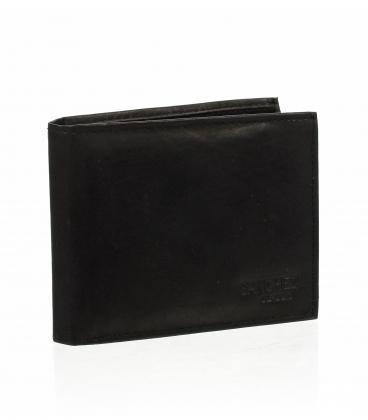 Pánska kožená čierna peňaženka ZMV -037-033 BLACK