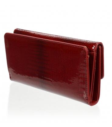 Dámska kožená červená peňaženka CD-64-274 D RED