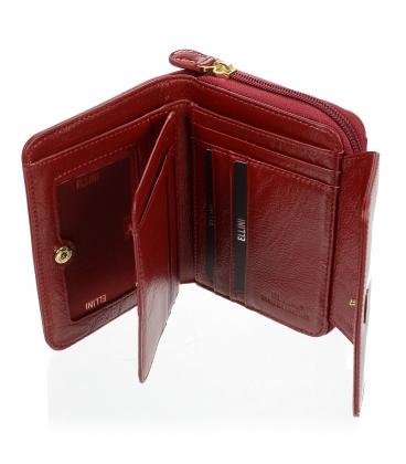 Dámska kožená červená peňaženka CD-64-277 RED