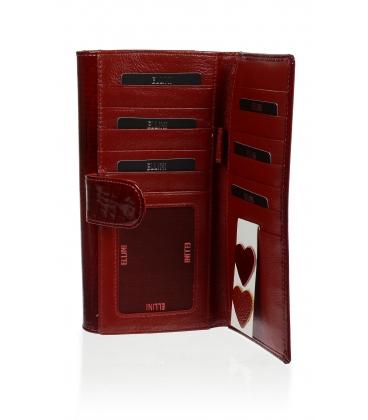 Dámska kožená červená peňaženka CDF-64-276 RED