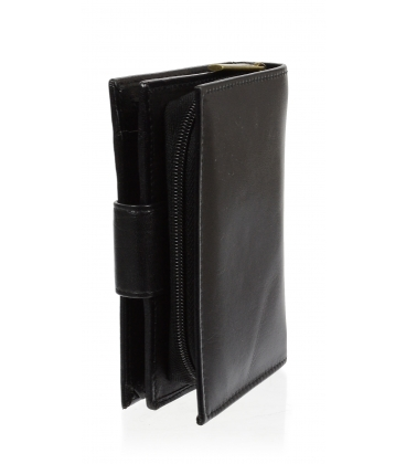 Dámska kožená čierna peňaženka AME-21R-115A BLACK