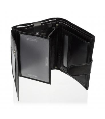 Pánska kožená čierna peňaženka TM-34R-250A BLACK