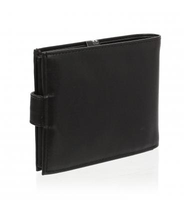 Pánska kožená čierna peňaženka TM-34R-032 BLACK
