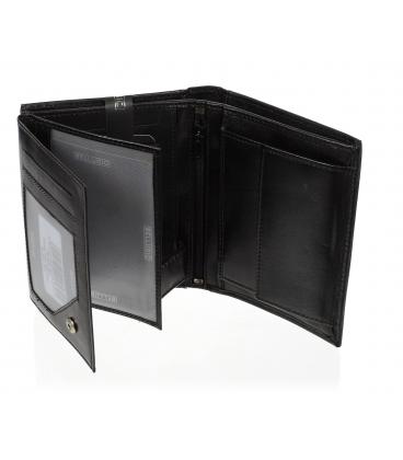 Pánska kožená čierna peňaženka TM-34R-251 BLACK