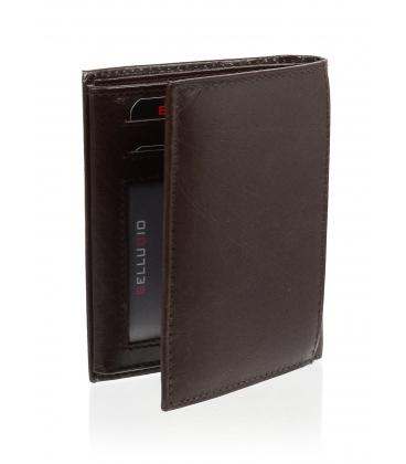 Pánska kožená čokoládovo hnedá peňaženka AM-21-034 CHOCO BROWN