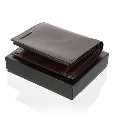 Pánská kožená čokoládově hnědá peněženka AM-21-034 CHOCO BROWN