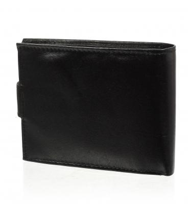 Pánska kožená čierna peňaženka AM-10-032 BLACK