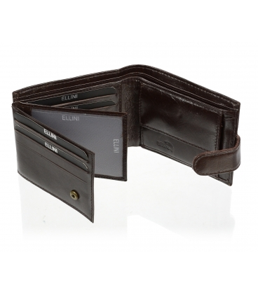 Pánska kožená čokoládovo hnedá peňaženka AM-21R-035 CHOCO BROWN
