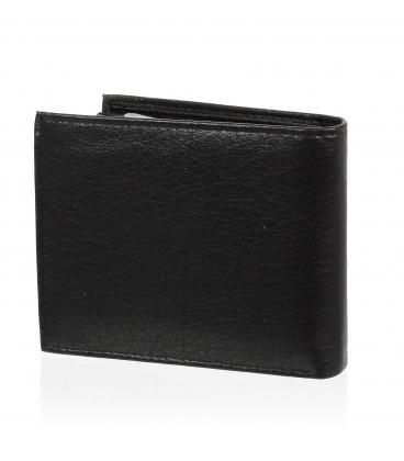 Pánska kožená čierna peňaženka AM-01-033 BLACK