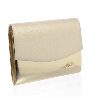 Zlatá listová kabelka S18SM008GLD - GROSSO
