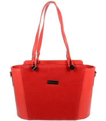 Červená elegantní kabelka V18SM074RED - GROSSO