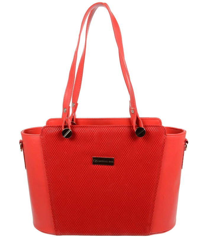 Červená elegantní kabelka V18SM074RED - GROSSO - Grosso 1ac0f01406e
