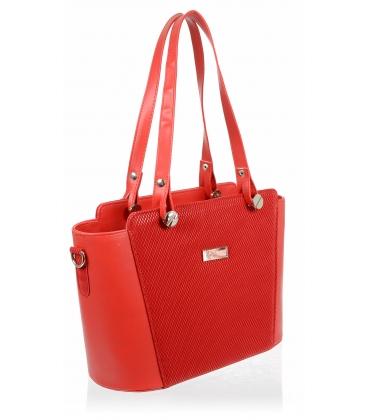 Červená elegantná kabelka V18SM074RED - GROSSO