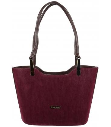 Bordová elegantná kabelka V18SM073BRD - GROSSO