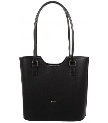 Čierna elegantná kabelka s hadím vzorom V18SM057BLC - GROSSO