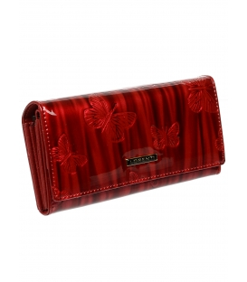 Dámska červená kožená kabelka 64003CKBF-RED