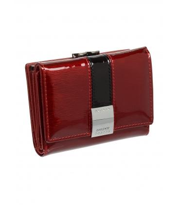 Dámska červená kožená lakovaná peňaženka 1509SH-RED