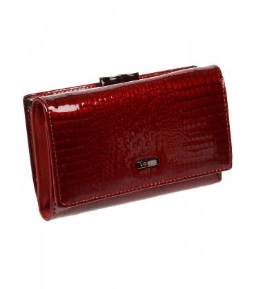 Női vörös bőr lakkozott pénztárca 55020 RS-RED