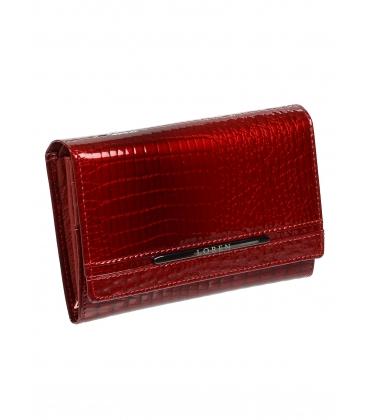Dámska červená kožená lakovaná peňaženka JP507RS-RED