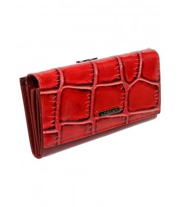 Női fekete bőr pénztárca 72031KR-RED