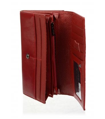 Dámska červená kožená peňaženka  72031KR-RED