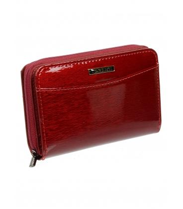Női vörös bőr pénztárca 0112SH-RED