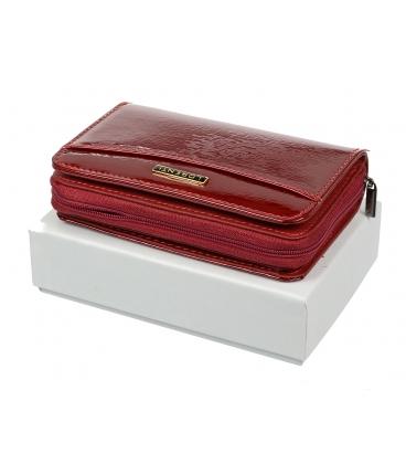 Dámska červená kožená peňaženka 0112SH-RED